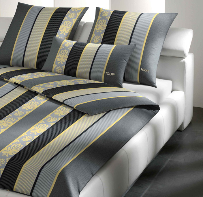 joop joop mako satin bettw sche 135x200 ornament stripe. Black Bedroom Furniture Sets. Home Design Ideas