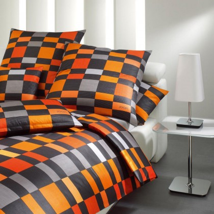 joop joop mako satin bettw sche 135x200 square 4044 08 orange ebay. Black Bedroom Furniture Sets. Home Design Ideas