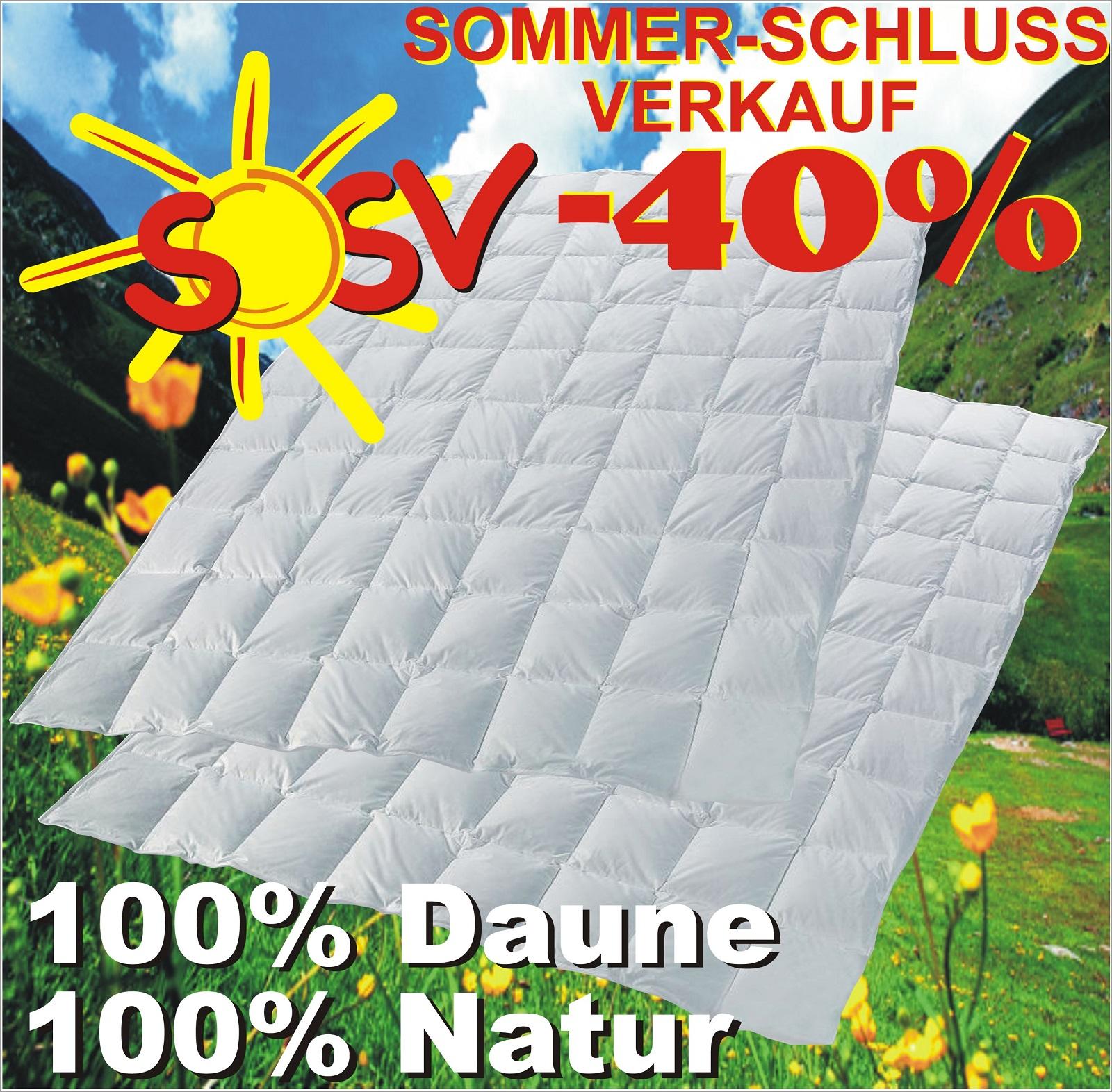 2 sommer daunenbett daunenbetten 100 natur daunenbett 135x200 neu ebay. Black Bedroom Furniture Sets. Home Design Ideas