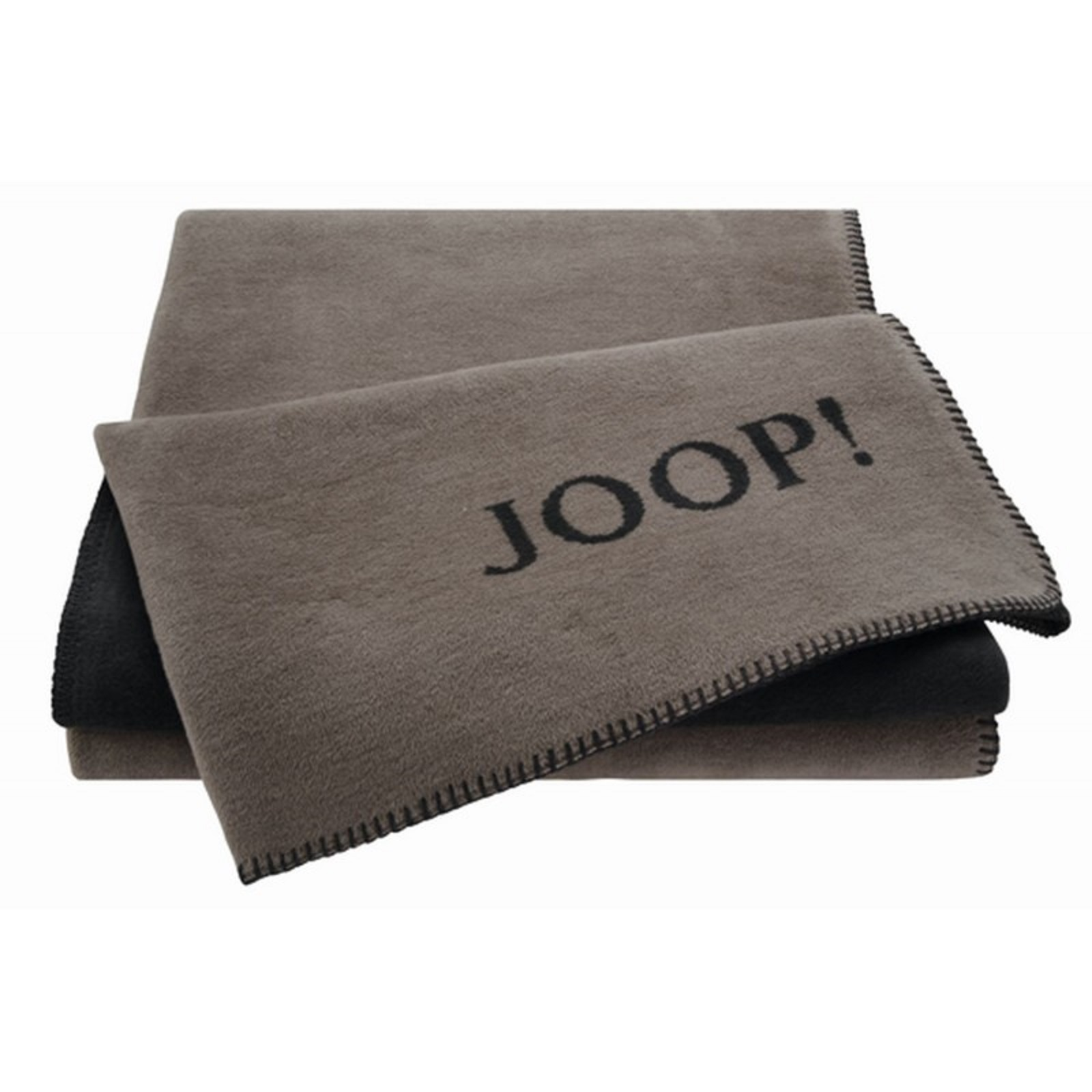 joop uni doubleface wohndecke kuscheldecke decke 631381 taupe anthr neu. Black Bedroom Furniture Sets. Home Design Ideas